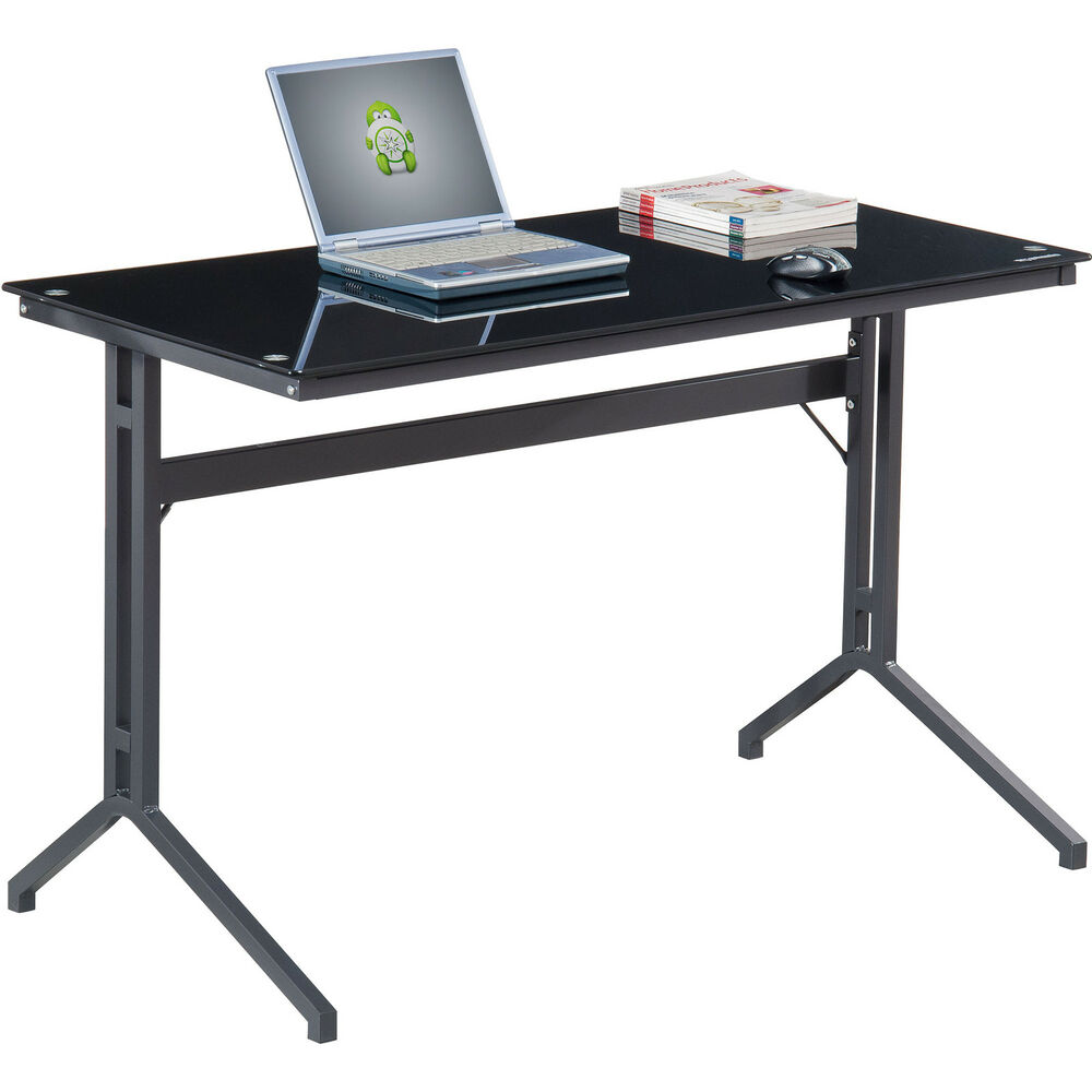 Home office furniture quality black tough glass laptop for Quality furniture