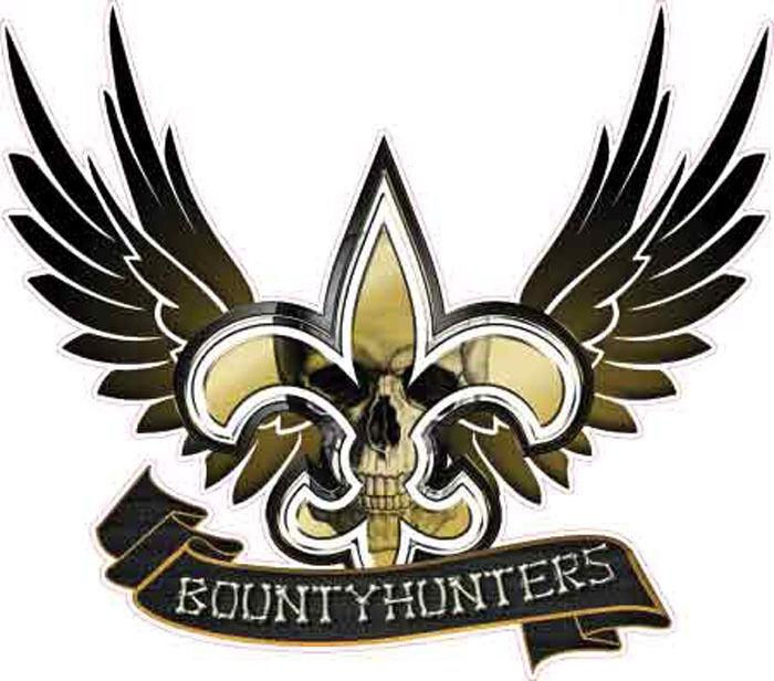 New Orleans Saints Bounty Hunter Vehicle Decal Sticker Ebay