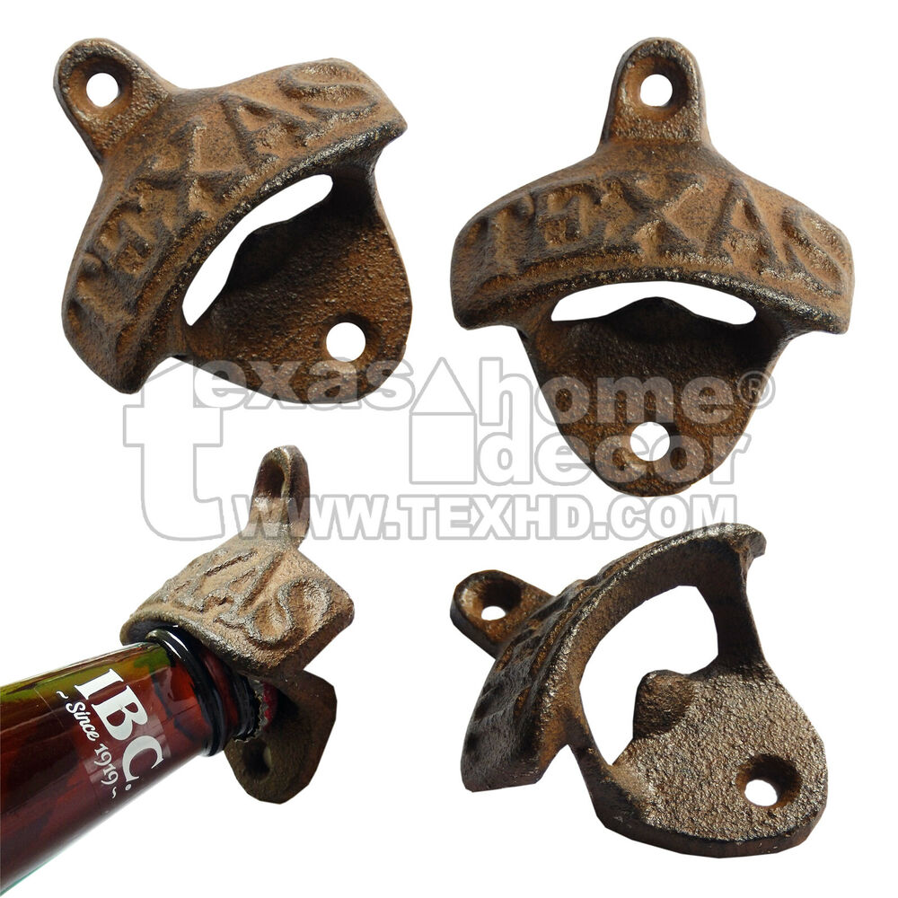 texas bottle opener rustic cast iron wall mounted wholesale lots 1 2 4 6 8 10 50 ebay. Black Bedroom Furniture Sets. Home Design Ideas