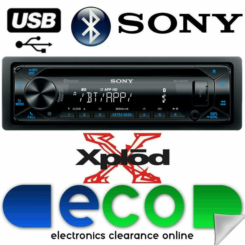 SONY Xplod MEX-N4100BT Bluetooth CD MP3 Car Stereo Radio
