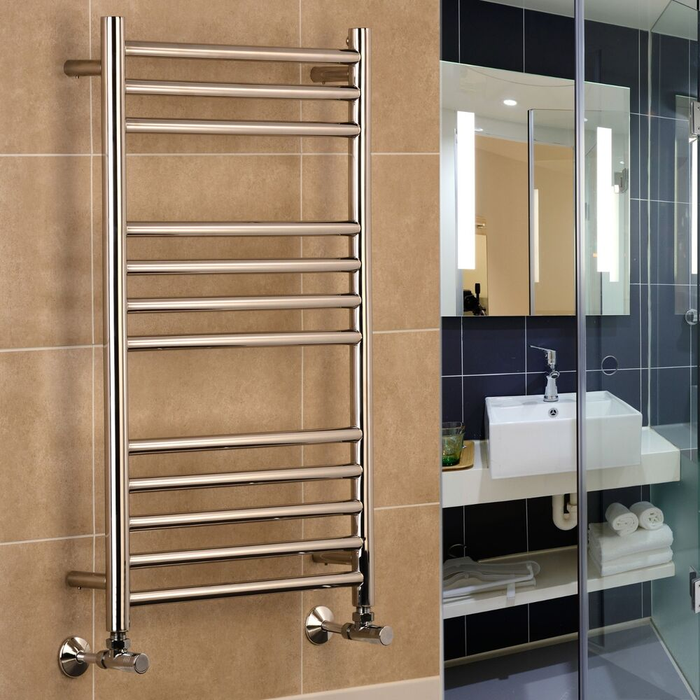 Stainless Steel Heated Towel Rail Radiator: Riga Stainless Steel Heated Towel Rail Warmer Bathroom