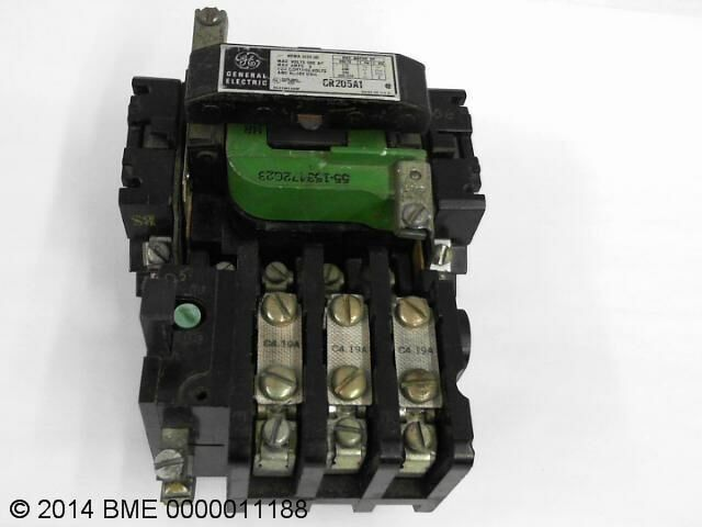 Ge Motor Starter Contactor Cr205a1 600 Vac Nema Size 00 9 Amp Used Ebay