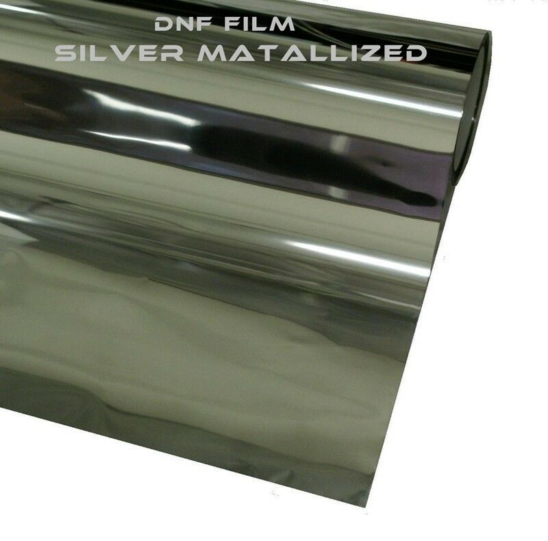 2 ply reflective silver mirror window tint 15 60 x 100 feet free dnf squeegee ebay for Miroir 60 x 100