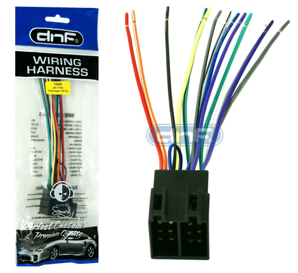 Vw Wiring Harness Adapter : Wiring harness aftermarket radio adapter volkswagen vw