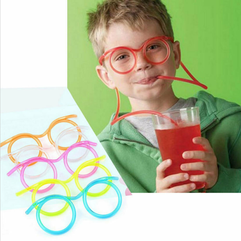 Glasses straw unique flexible novelty soft glasses Unusual drinking glasses uk