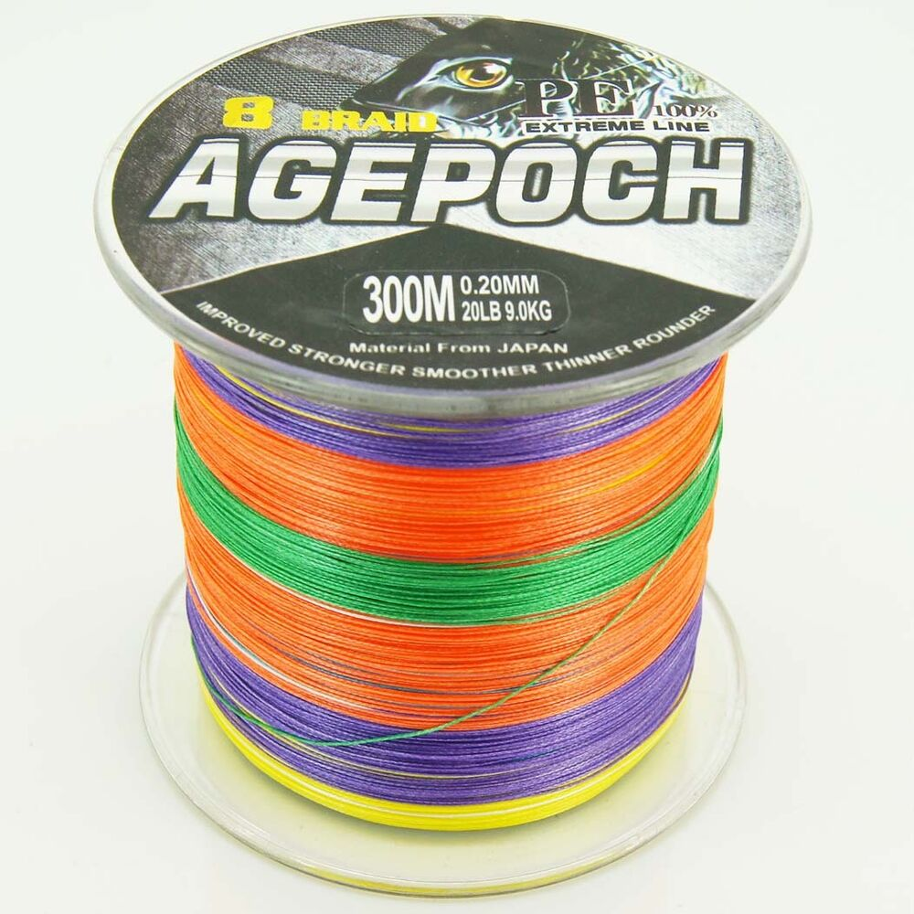 8strands multi color20lb 100lb agepoch super strong for 20 lb braided fishing line
