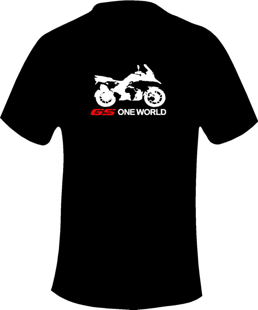 bmw gs 1200 one world motorcycle printed t shirt in 6. Black Bedroom Furniture Sets. Home Design Ideas
