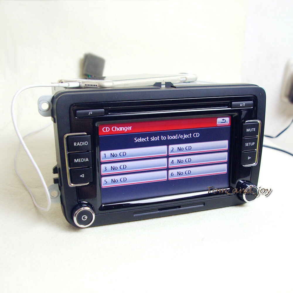 oem radio rcd510 aux usb euro style button for vw golf eos. Black Bedroom Furniture Sets. Home Design Ideas