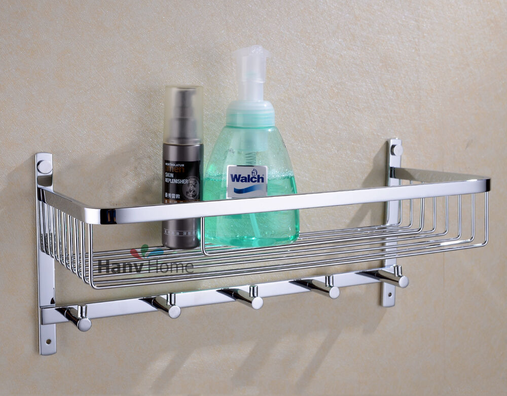 Bathroom stainless steel shower shelf caddy basket storage
