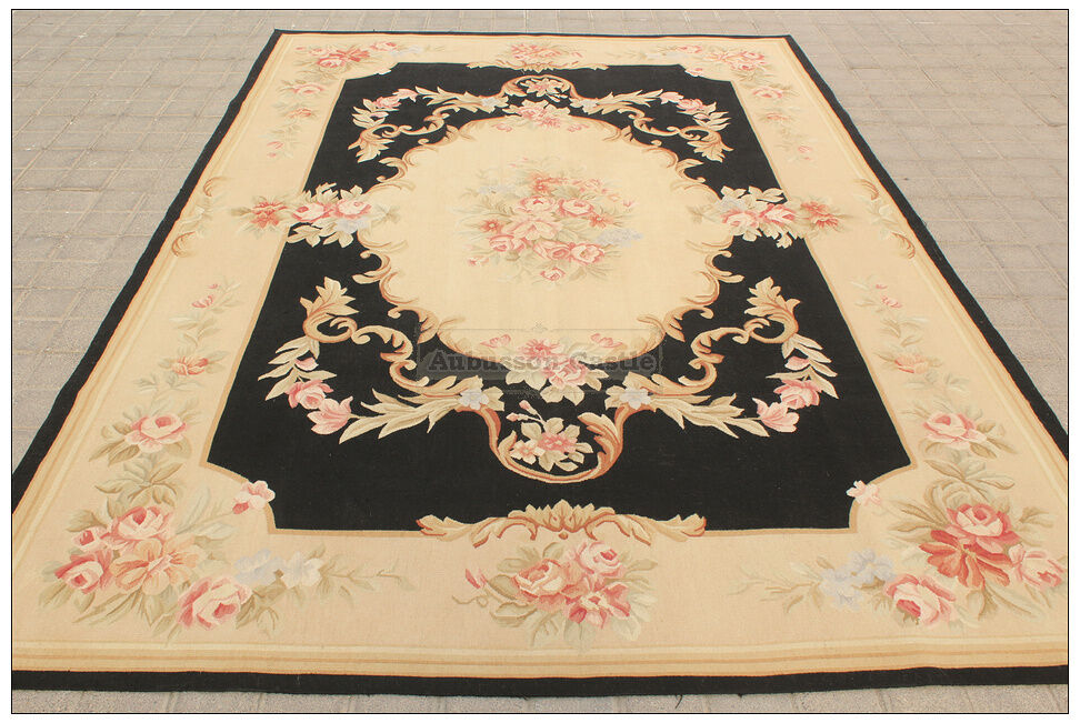 5x8 Aubusson Area Rug Shabby French Chic Home Decor Wool