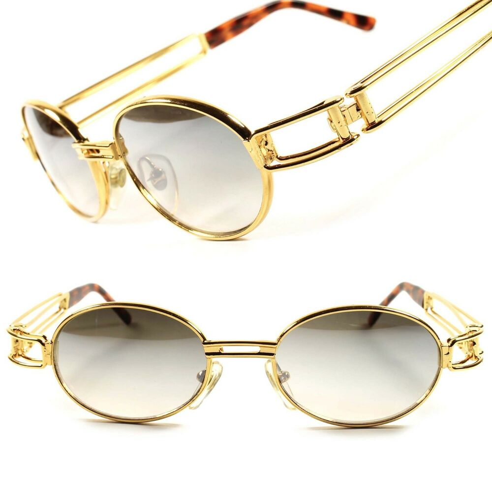 Gold Classic Old Cool Vintage Retro Mens Womens Oval Round ...