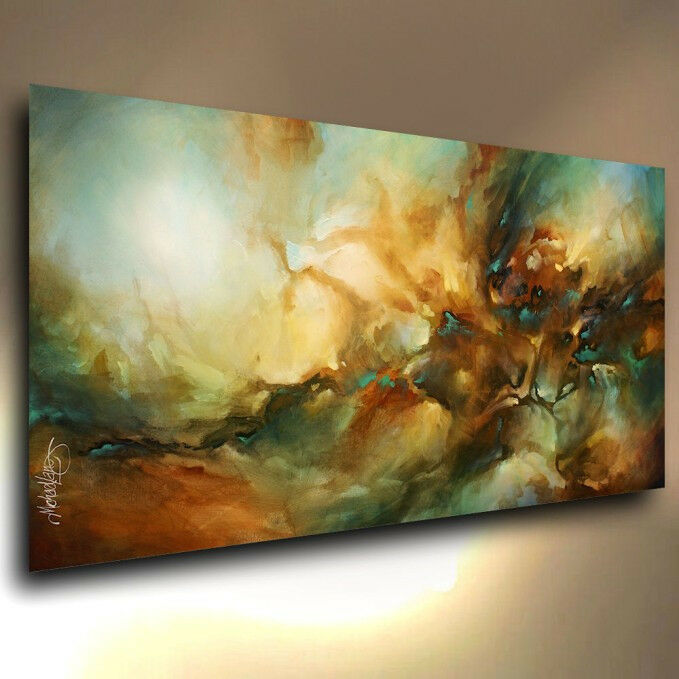 Higher Vibration Modern Art Giclee Print on Stretched