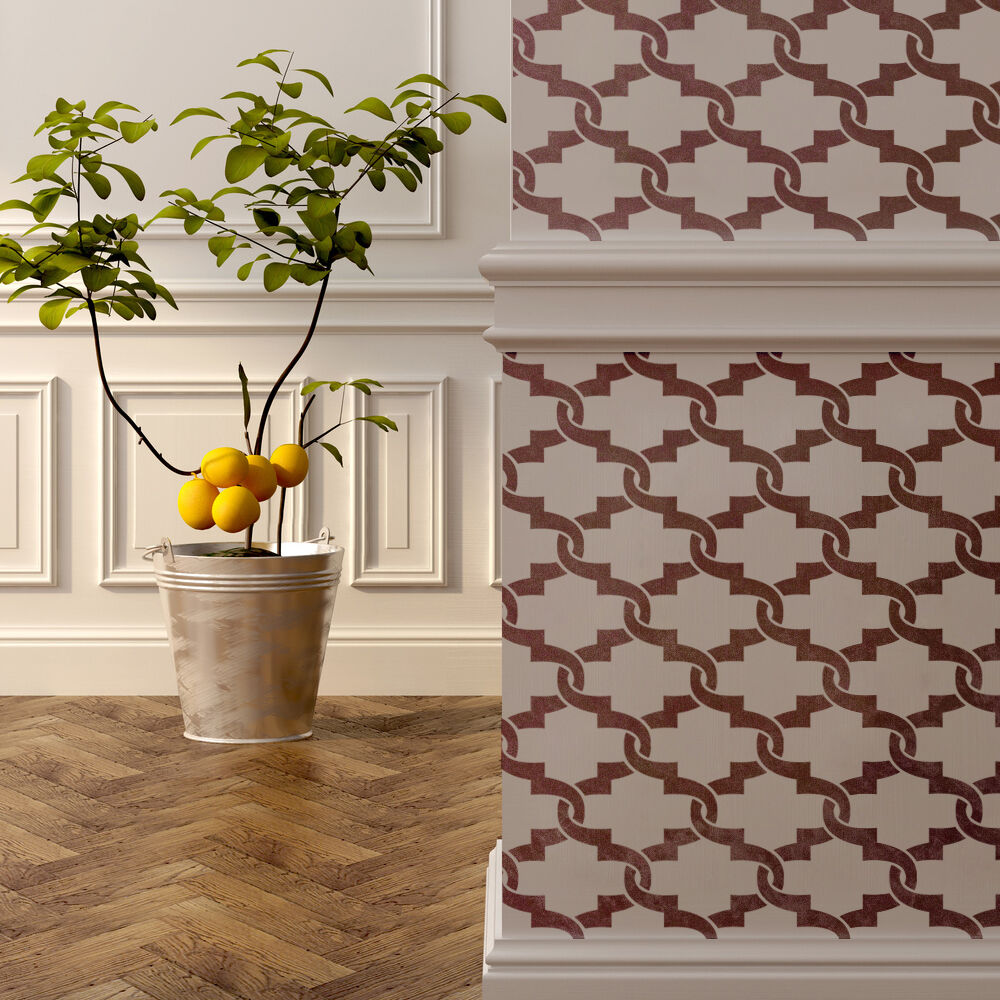 wall moroccan stencil elisamarie trellis allover for wall