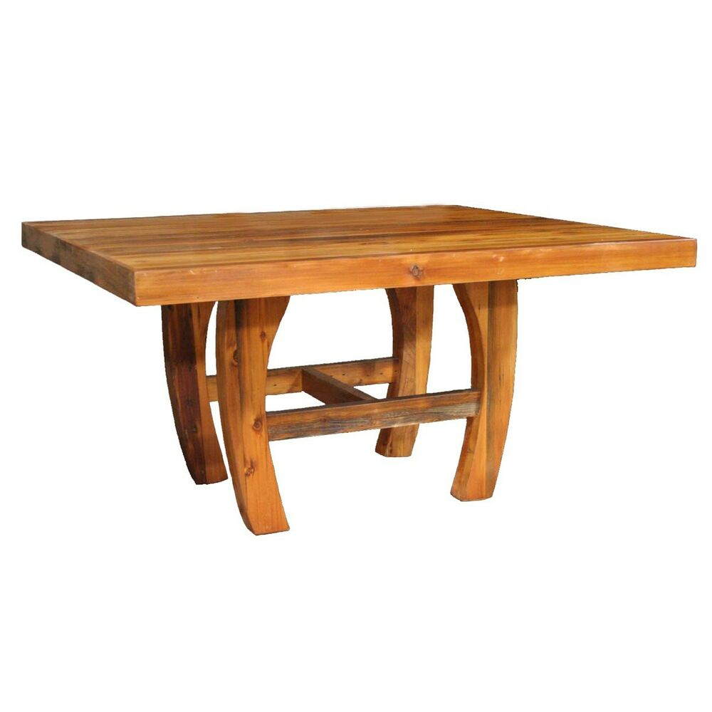 Western horseshoe table country rustic wood log cabin kitchen