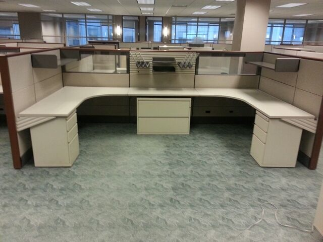 8 Stations Used Herman Miller Ethospace Cubicles