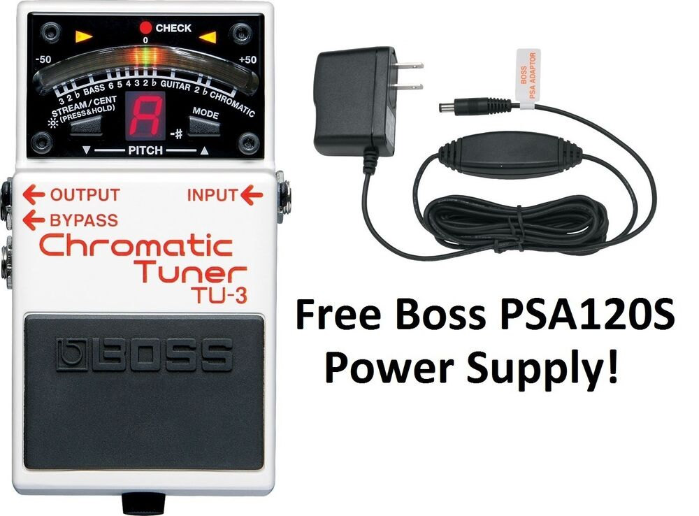 new boss tu 3 chromatic guitar pedal tuner free boss psa120s power supply 761294409664 ebay. Black Bedroom Furniture Sets. Home Design Ideas