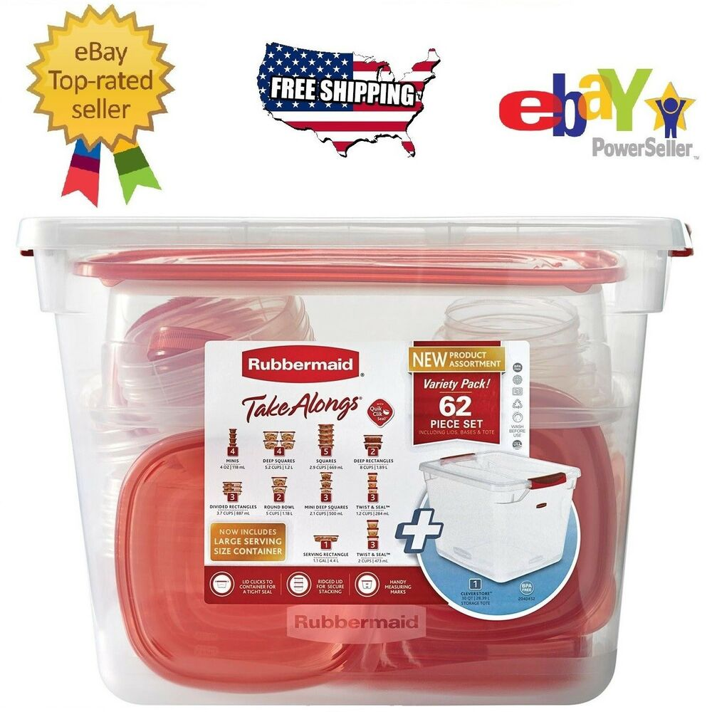 kitchen storage box 62 pc rubbermaid takealongs kitchen plastic food storage 3125