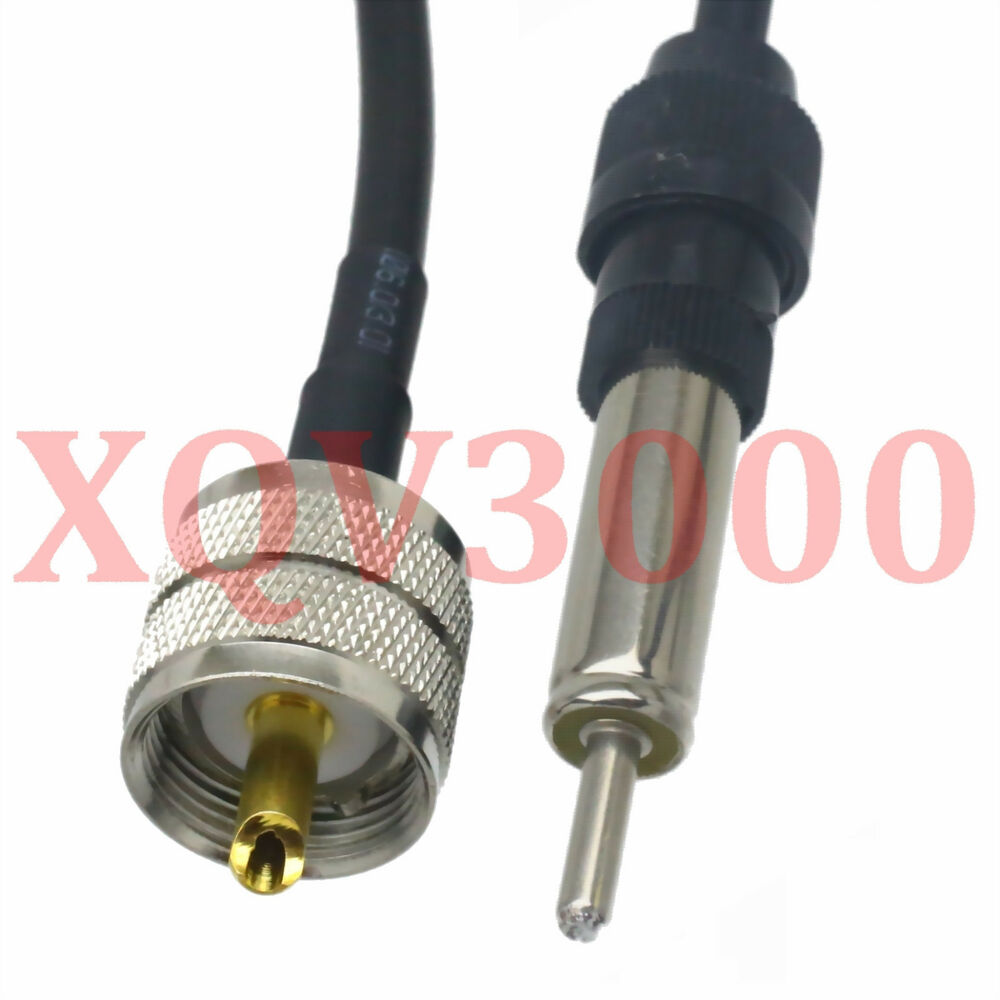 pl259 uhf to motorola am fm radio car antenna connector male rg58 cable 1ft 12 ebay. Black Bedroom Furniture Sets. Home Design Ideas