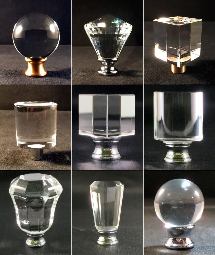 Lamp Finial Clear Crystal Lamp Finials With Polished