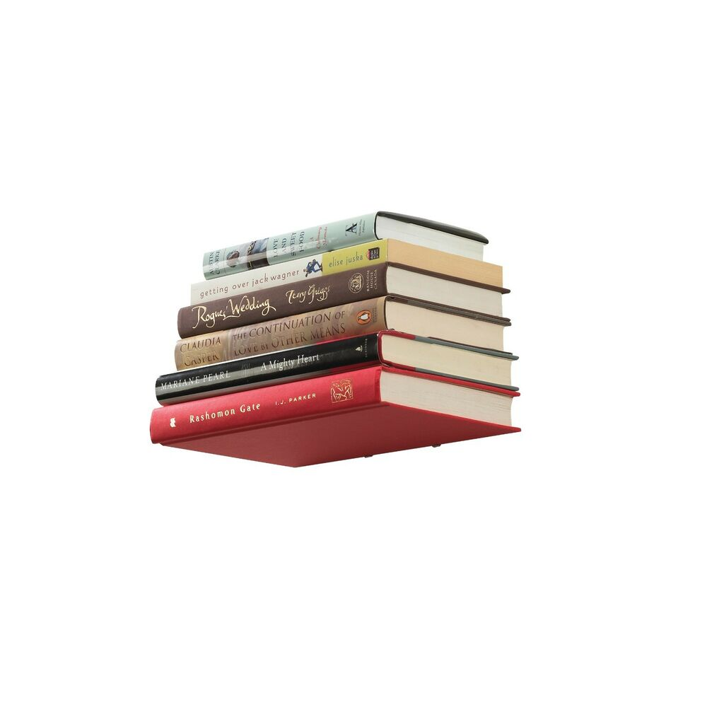 Metal Book Shelves ~ New invisible floating conceal white metal book shelf wall
