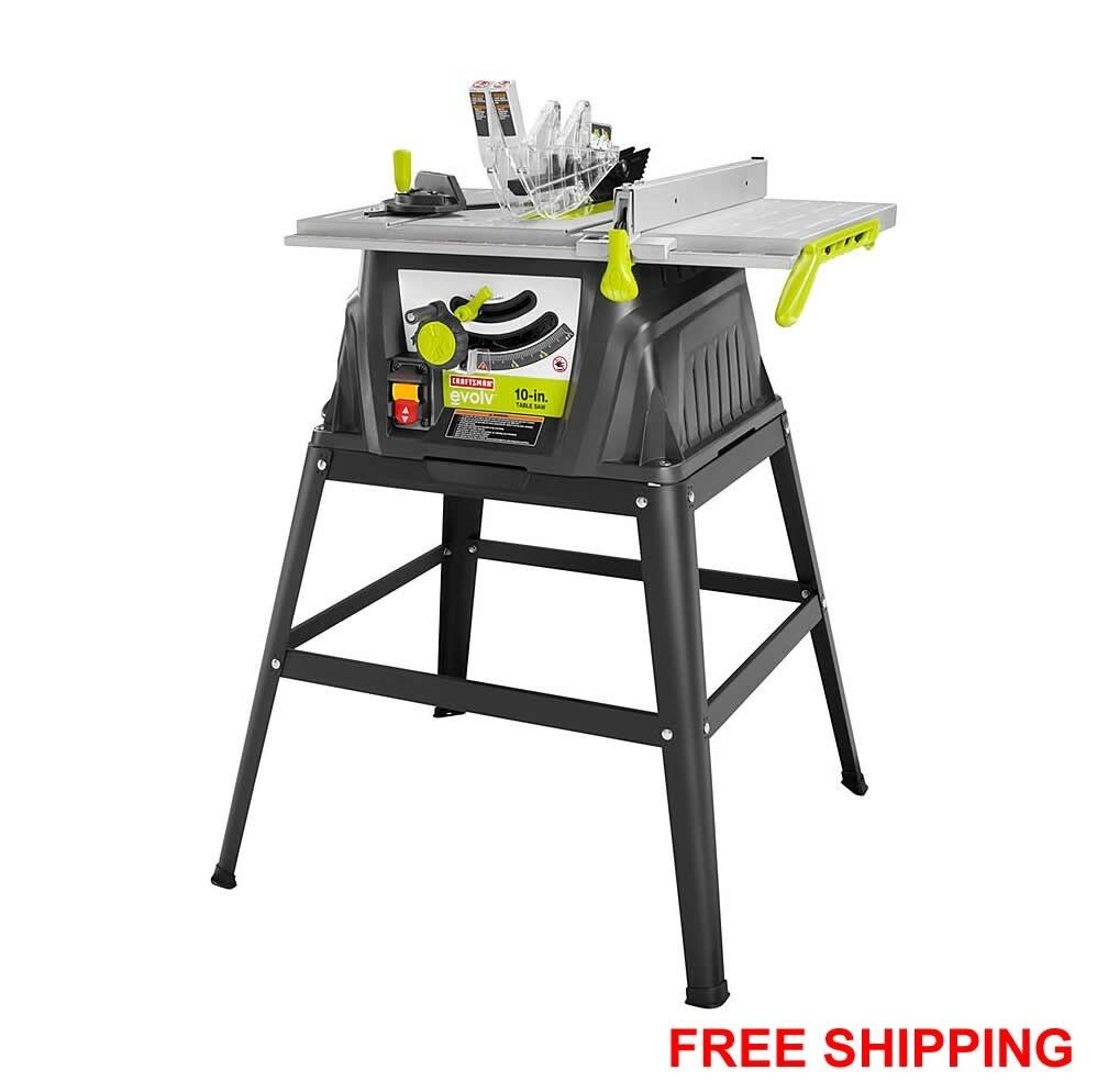 15 amp 10 portable table saw with stand 24t carbide for 10 inch table saw craftsman