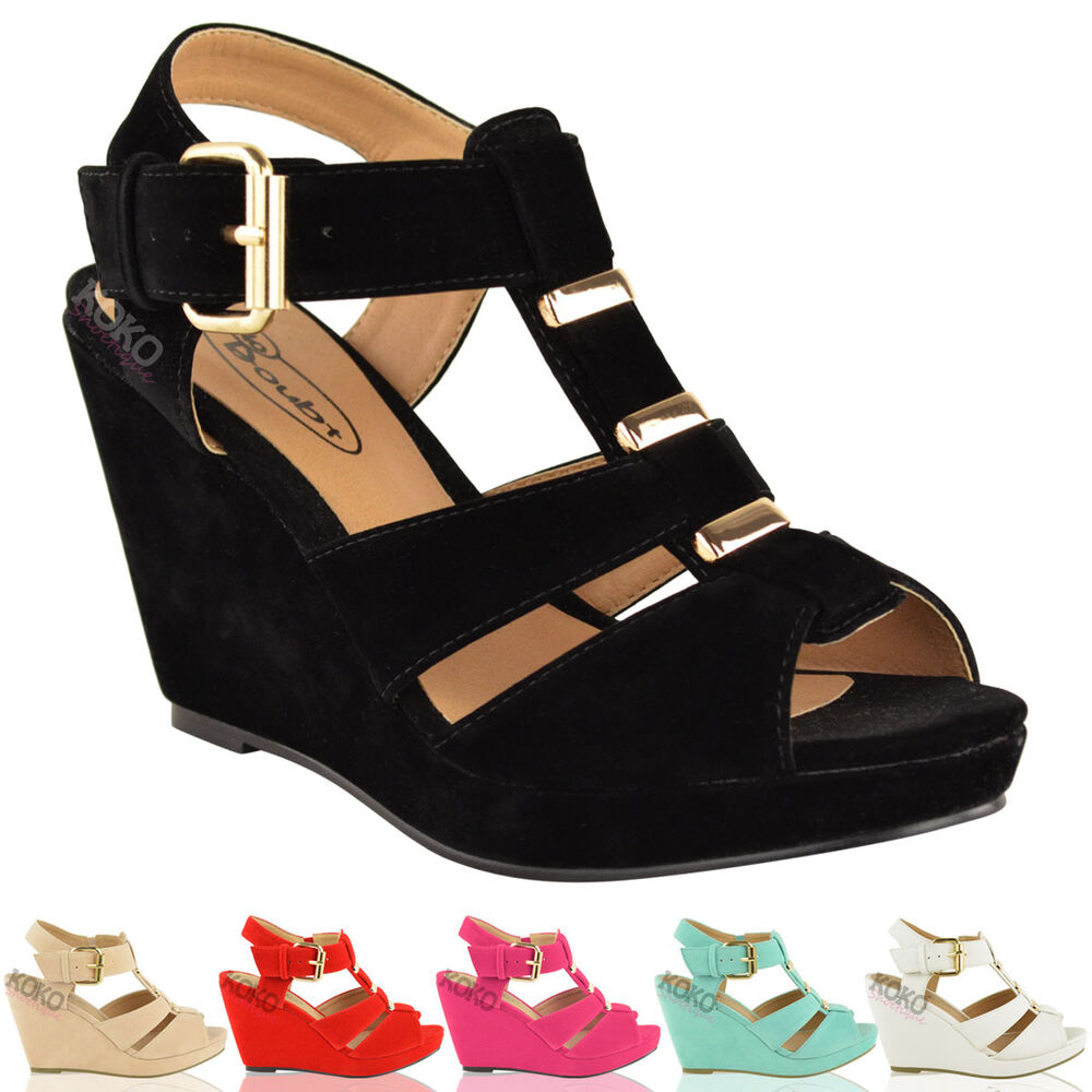 Ladies Wedge Shoes Size