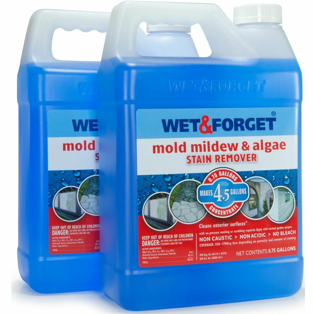 2 pk wet forget outdoor mold mildew algae stain remover cleaner gallon ebay