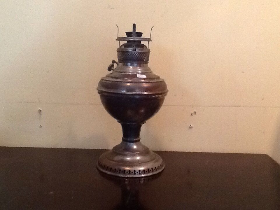 new juno oil lamp no 2 made in usa unique some wear plated metal. Black Bedroom Furniture Sets. Home Design Ideas