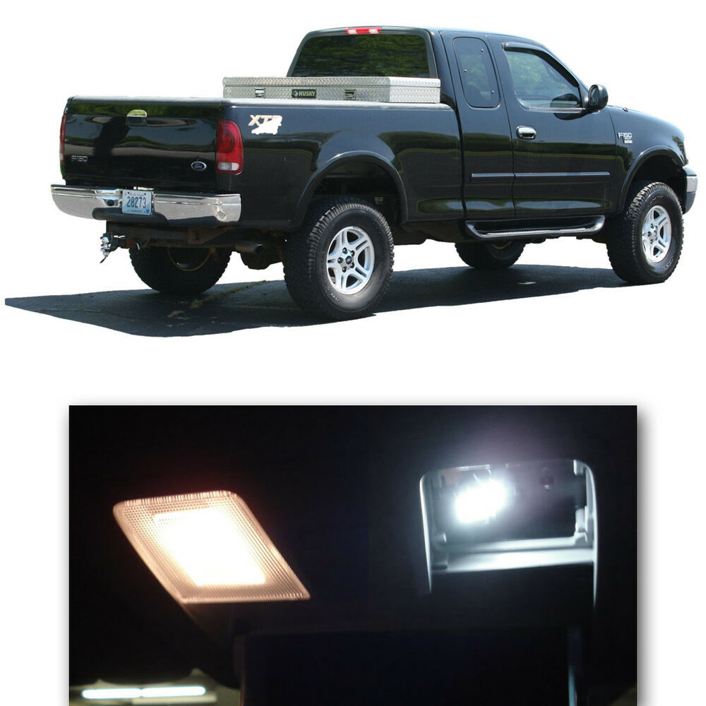 8 Pieces Xenon White Smd Led Lights Interior Package Kit For 1997 2003 Ford F150 Ebay