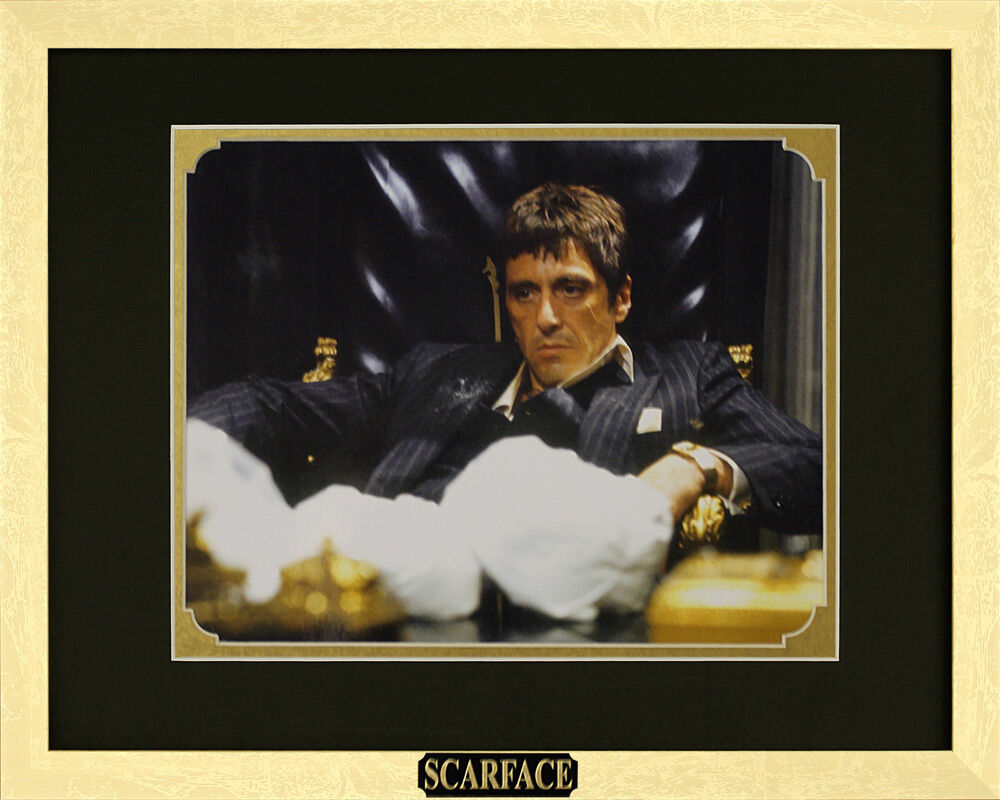 scarface al pacino as tony montana framed movie poster