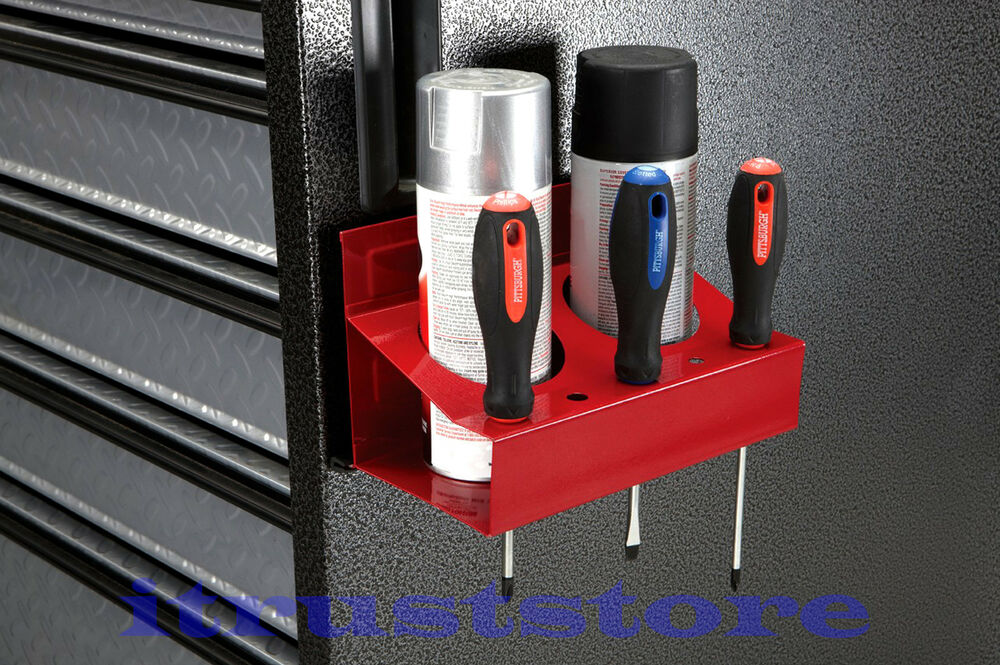 METAL STEEL MAGNETIC SPRAY PAINT CAN HOLDER HOLDING RACK