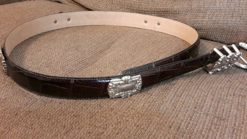 s black leather belt xl 36 quot new with conchos ebay