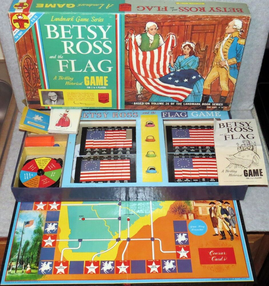 ultra rare vintage 1961 betsy ross and the flag game board game euc ebay. Black Bedroom Furniture Sets. Home Design Ideas