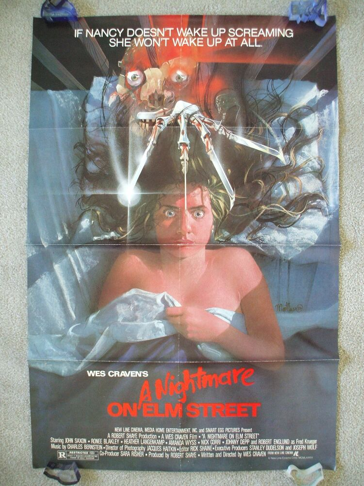 A NIGHTMARE ON ELM STREET * 1984 ORIGINAL MOVIE POSTER ...