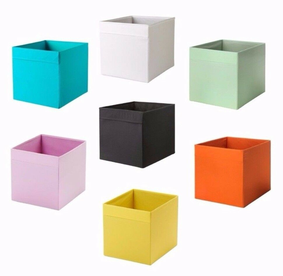ikea drona box storge organizer new collors fit to kallax expedit shelf units ebay. Black Bedroom Furniture Sets. Home Design Ideas