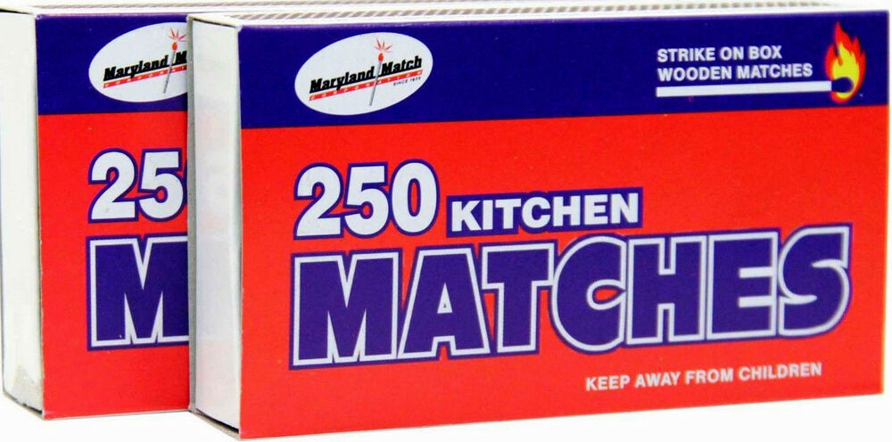 500 Strike On Box Wooden Kitchen Matches 2 Pack X 250 Ebay