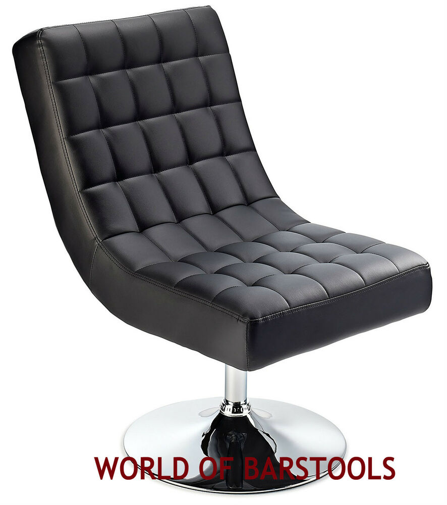Designer Swivel Lounge Chair Available In Black Red