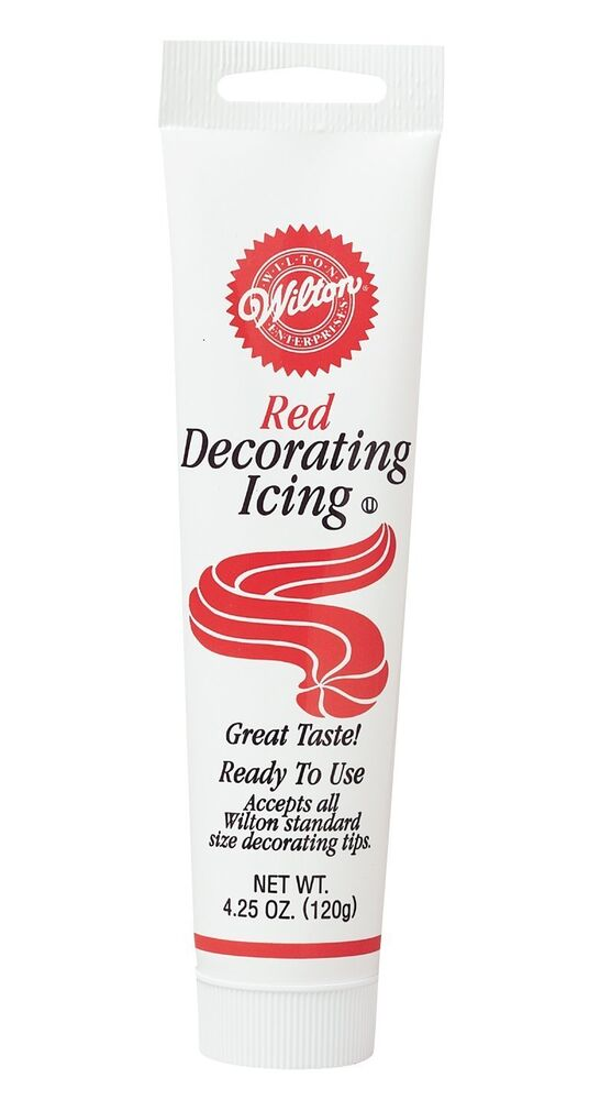 Cake Decorating Ready Made Icing : New Wilton RED Ready-To-Use ICING TUBE Cake Decorating eBay