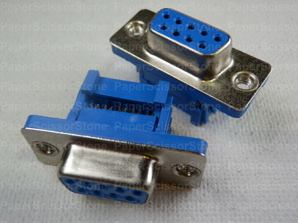 Ribbon Connector 10 : Pcs pin d sub db female idc flat ribbon cable