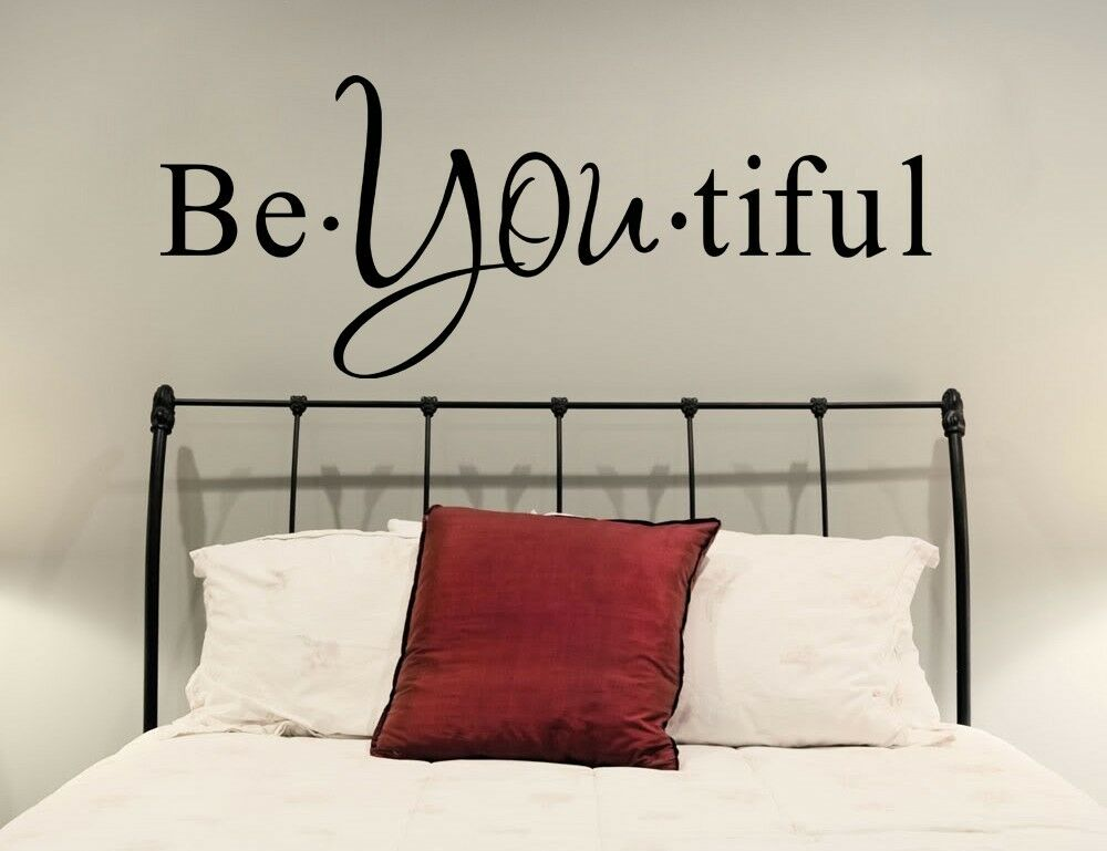 Vinyl Wall Decal Quote Be You Tiful Inspirational Text
