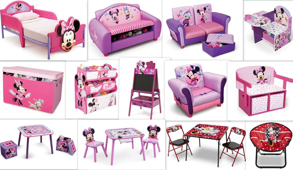 disney minnie maus kinderm bel m bel stuhl spielzeugkiste. Black Bedroom Furniture Sets. Home Design Ideas