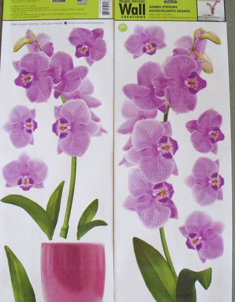 Main Street Wall Creations Jumbo Stickers Vinyl Wall Art   Purple Orchids |  EBay Part 38