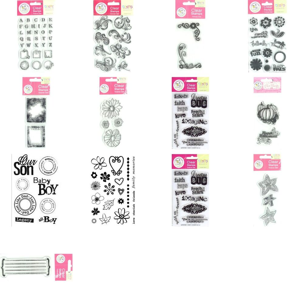 Scrappy Cat Acrylic Clear Rubber Stamp Sets You Choose