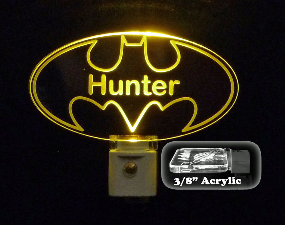 Personalized Custom Batman LED Night Light, Superhero gift ...