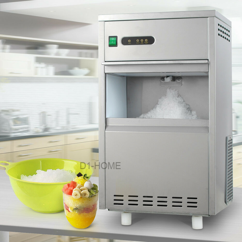 Countertop Crushed Ice Maker : ... /DAY Frozen Flake Ice Built-In Undercounter Ice Maker Machine eBay