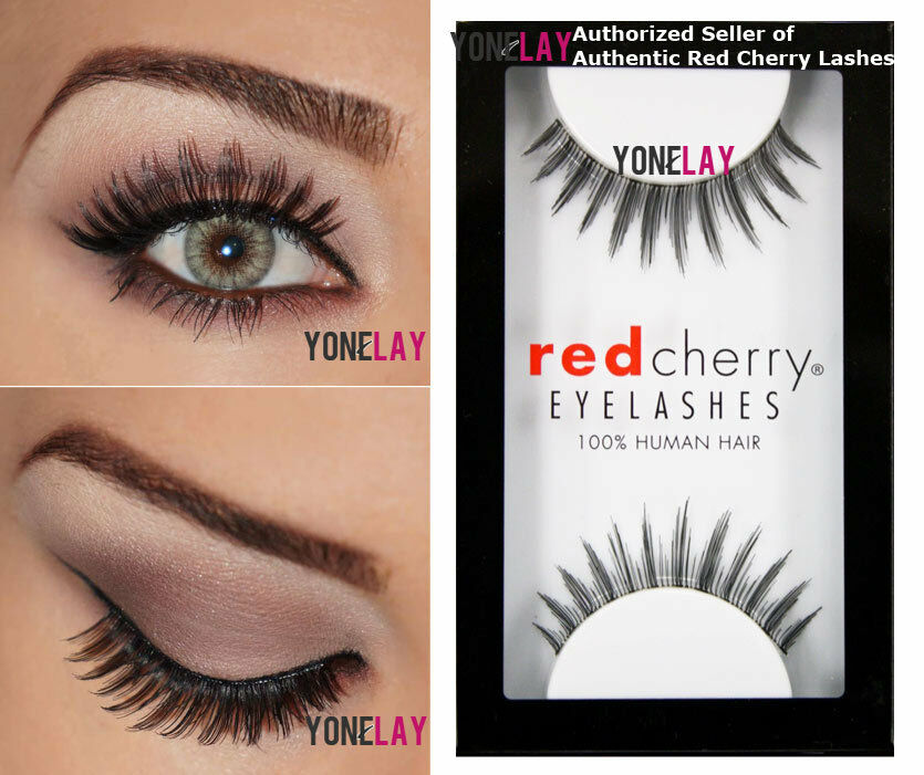 Lot 6 Pairs Genuine Red Cherry Paddington 42 False Eyelashes Human
