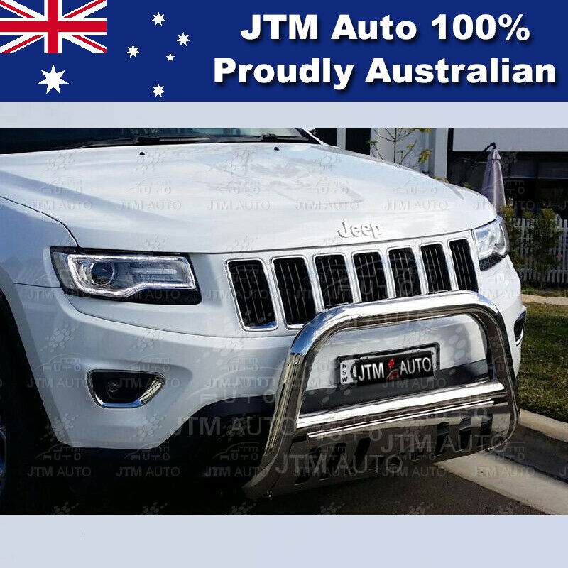 jeep grand cherokee stainless steel nudge bar 3 grille guard 2011 2017 ebay. Black Bedroom Furniture Sets. Home Design Ideas