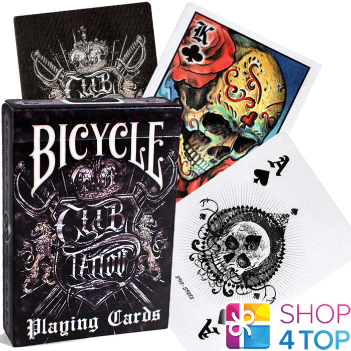 Bicycle club tattoo black playing cards deck skin ink art for Bicycle club tattoo deck