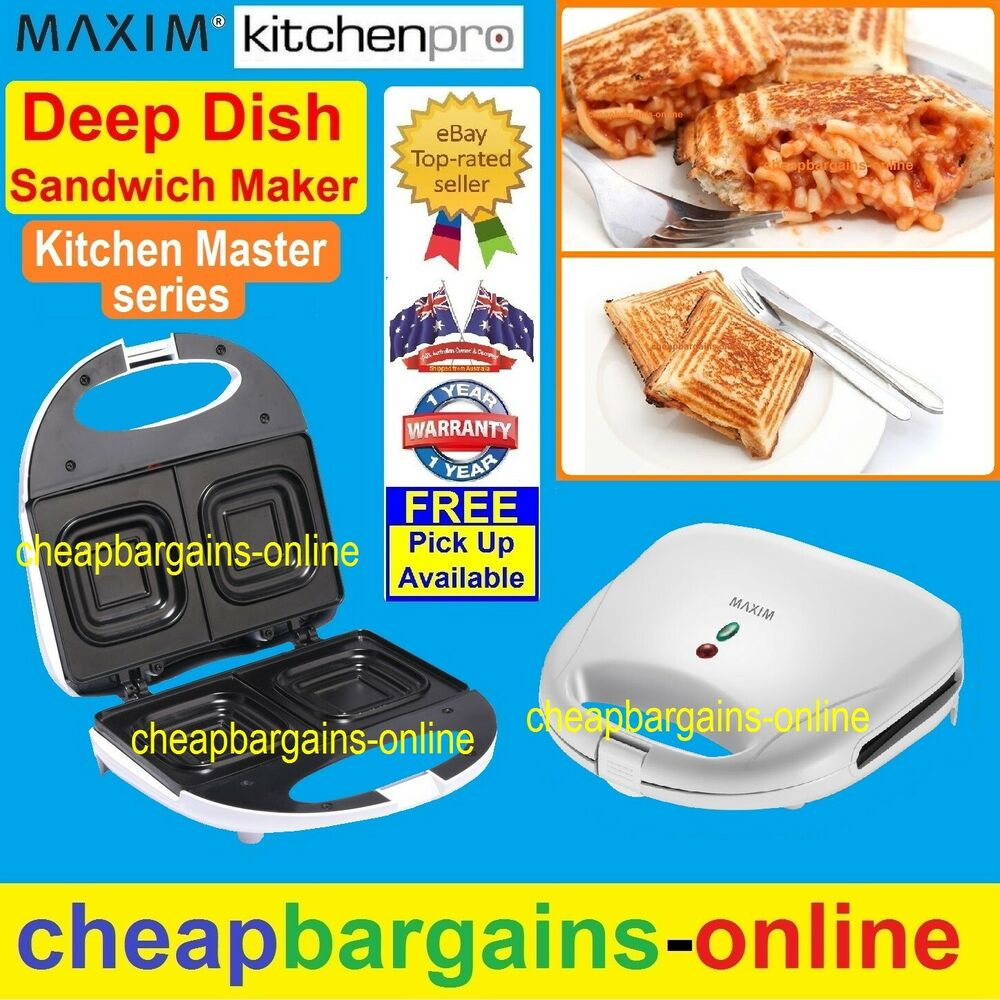a true deep dish sandwich maker press toaster jaffle iron. Black Bedroom Furniture Sets. Home Design Ideas