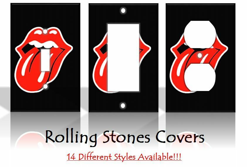 Rolling Stones Lips Music Jagger Richards Light Switch Covers Home Decor Outlet Ebay